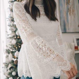 Tops - White crochet top